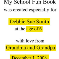 Personalized Children's Books, My School Fun Book, Personalized Story - Connie's Personalized Music, Books & More