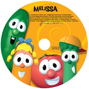 Veggie Tales Sing-a-Long Personalized CD