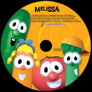 "Personalized Veggie Tales ""Sing-a-Long"" CD and Digital Download"