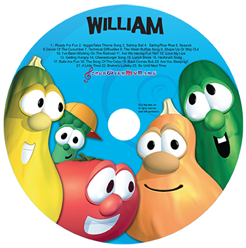 Veggie Tales Silly Songs Personalized Music Cd