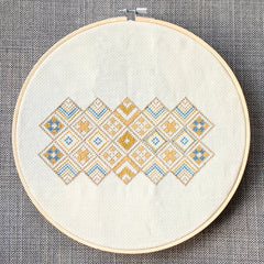 Cross stitch design by Futska. Stitched by lucy Engekls in aurifil thread