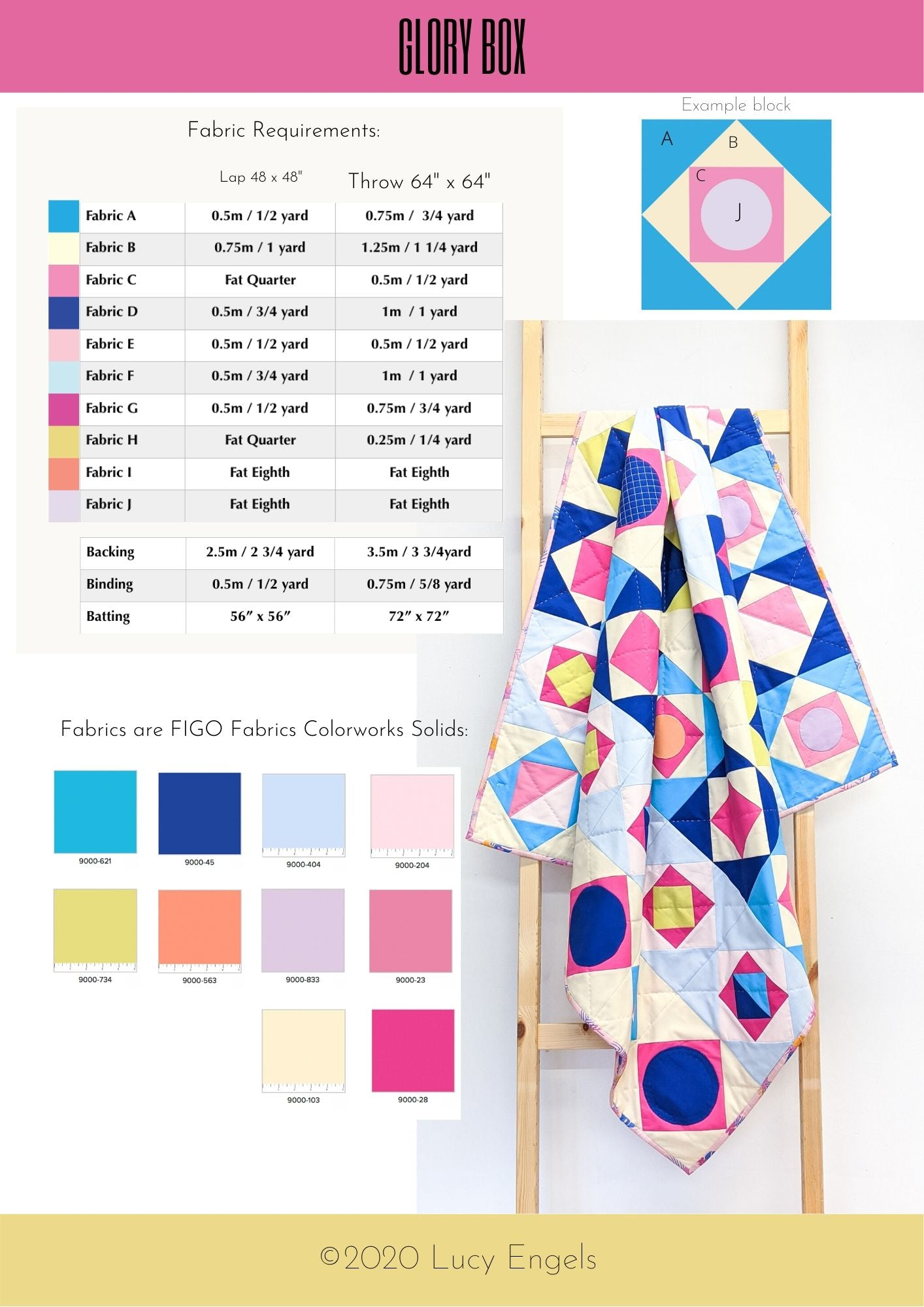 Glory Box - PDF download Quilt Pattern