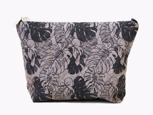 Monstera pouch - Grey