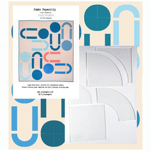 "Jumbo Paperclip PDF quilt pattern & 7"" DDP Acrylic Template Set"