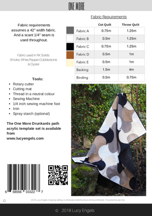 One More Quilt Pattern - PDF Digital Download