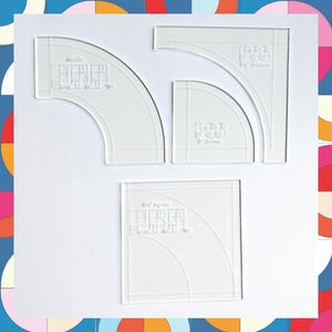 "Sonia Paper Pattern & 3.5"" DDP Acrylic Template Set"