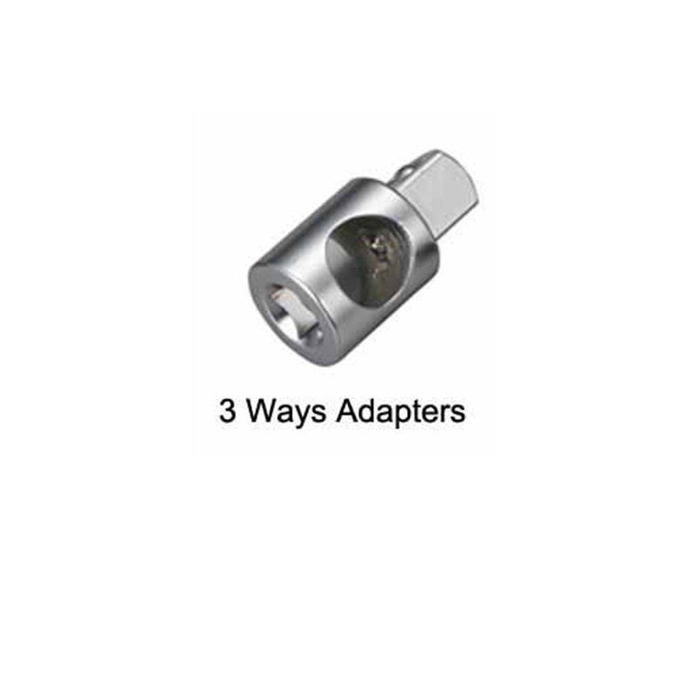 "3/8"" Dr. 1/2""F x 3/8""M, 3 Way Adapter - SIMZ Werkz"
