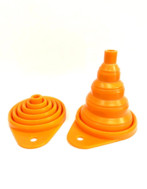Silicone Foldable Oil Funnel (Orange)