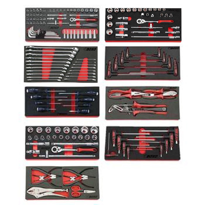 7-Drawer Digit Lock Tool Cabinet with 228pcs Professional Tools