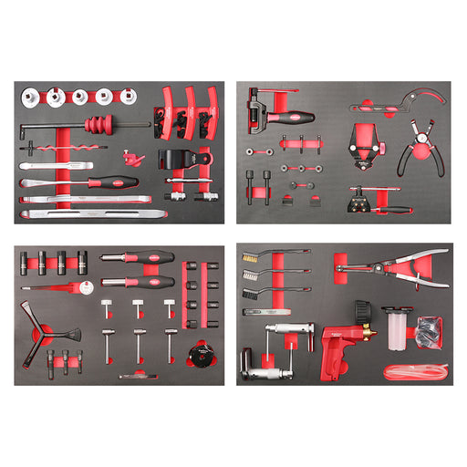 8-Drawer Digit Lock Tool Cabinet with 155pcs Special Motorcycle Tools Set