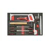 17 pcs Files, Hammer, Measuring, Marking & Cutting Tool Set, 3/3 System Insert - SIMZ Werkz