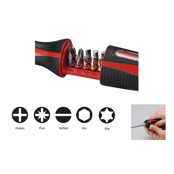 11 pcs Ratchet Screwdriver Bit Set - SIMZ Werkz
