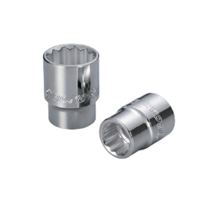 "3/8"" Dr. Socket (12PT) W/Mirror Finish - SIMZ Werkz"
