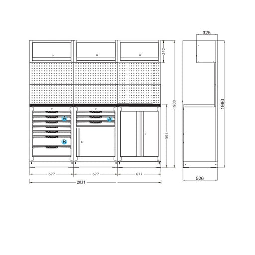 "Organized Storage Modules 26"" Set D - SIMZ Werkz"