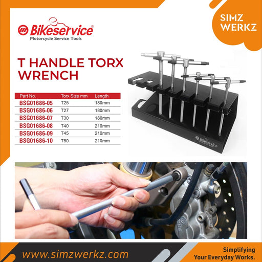 6 Pcs T-Handle Torx Wrench Set with A Stand (300mm)