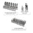 "122 Pcs, 1/4"" & 3/8"" Dr. 6 PT Socket & Wrench Master Tool Set (Metric) - SIMZ Werkz"