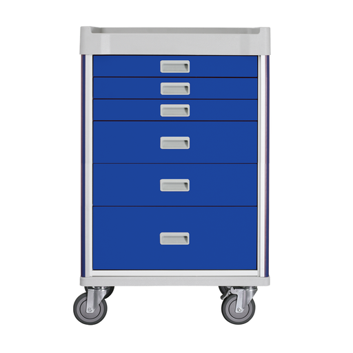 "MX Anaesthesia Cart 37"" (Blue) - SIMZ Werkz"