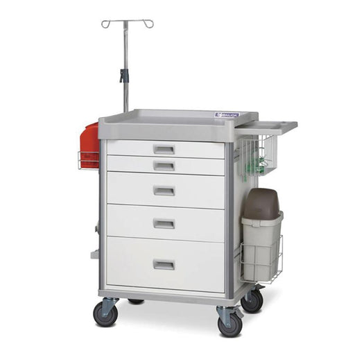 "MX Procedure Cart 34"" (White) - SIMZ Werkz"