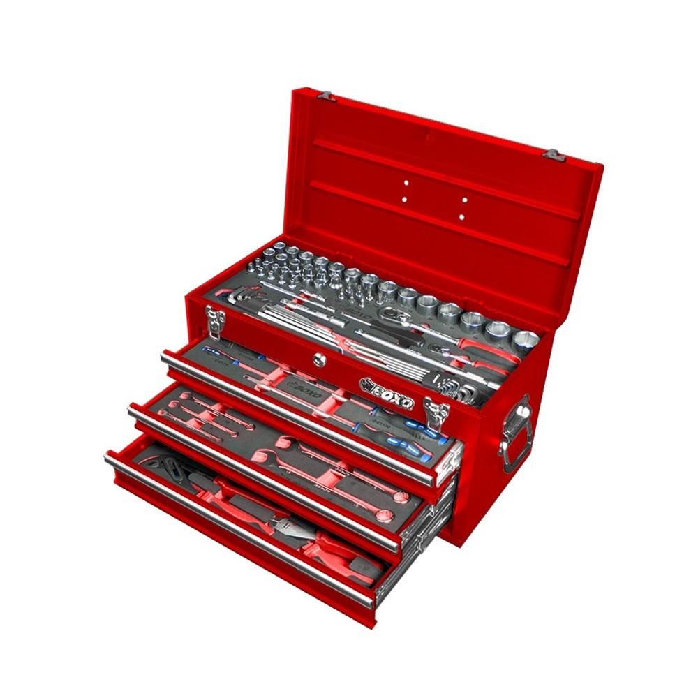 3 Drawer Carry Box with 94pcs Multi-Function Tool Set (mm) - SIMZ Werkz