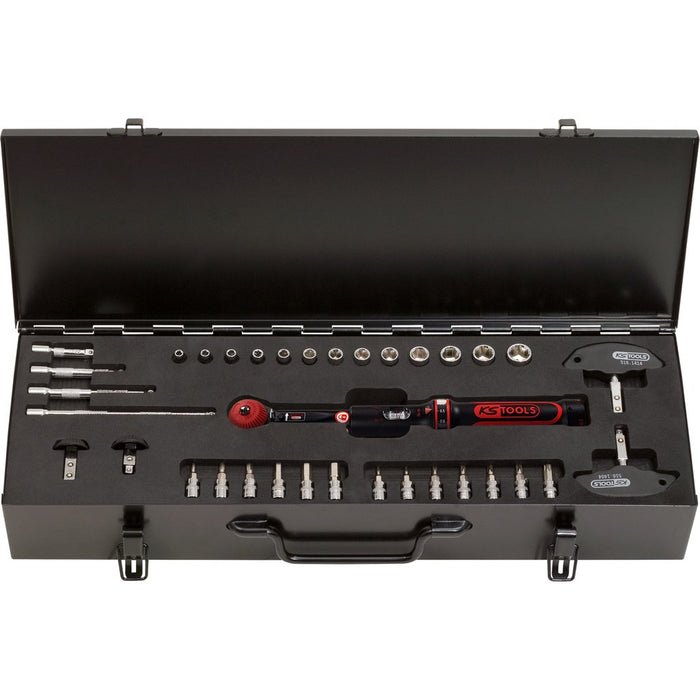 "1/4"" ERGOTORQUE®Precision Torque Wrench Toolkit with Rotary Mushroom Ratchet Head, 5-25Nm, 35pcs - SIMZ Werkz"