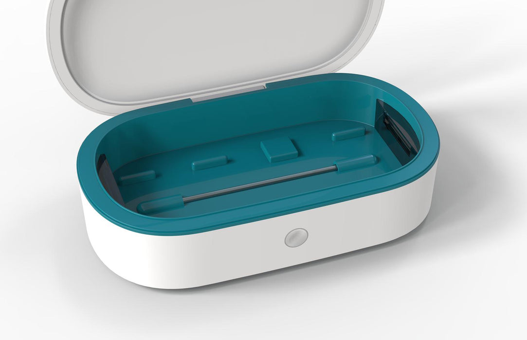 UV Sterilizer Box With Wireless Charger (White + Green)