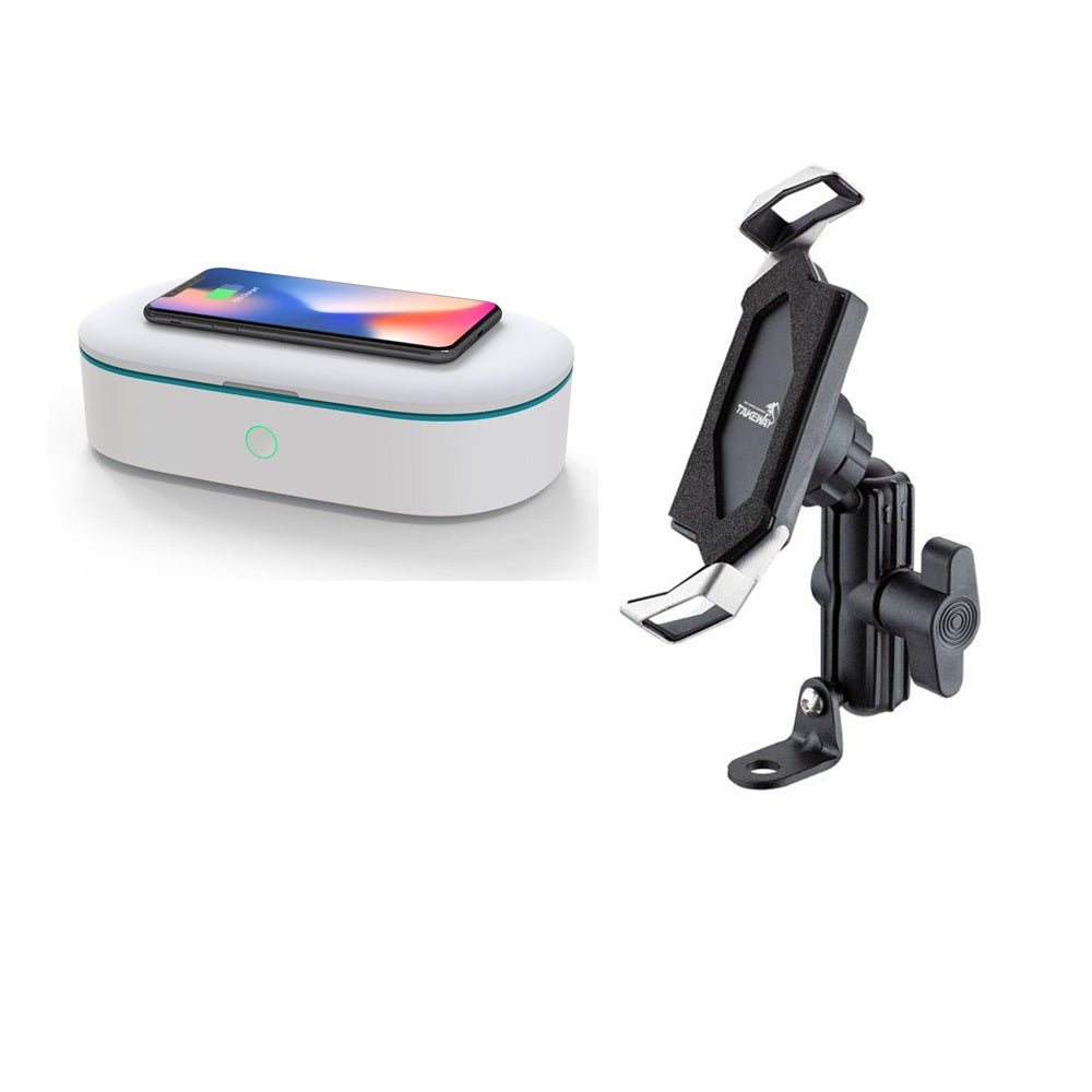Bundle Set - Z Phone Holder and UV Sterilizer Box With Wireless Charger