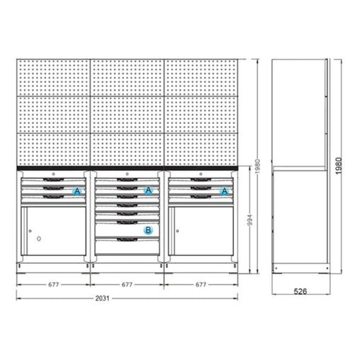 "Organized Storage Modules 26"" Set A"