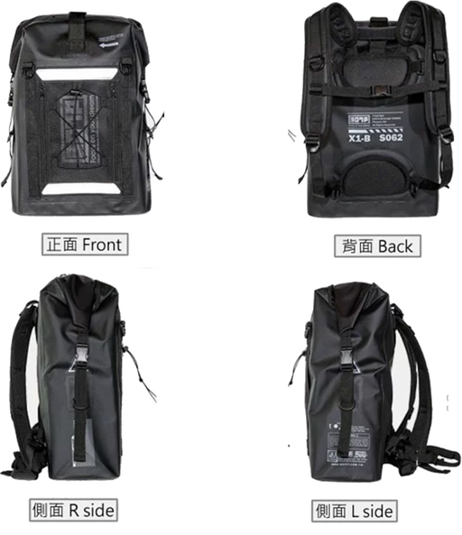 PX-5 ROAD 2.0 in BLACK (30L) <br>Waterproof Backpack - SIMZ Werkz