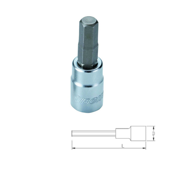 "3/8"" Dr. Hex Bit Socket w/ Frosty Finish - SIMZ Werkz"