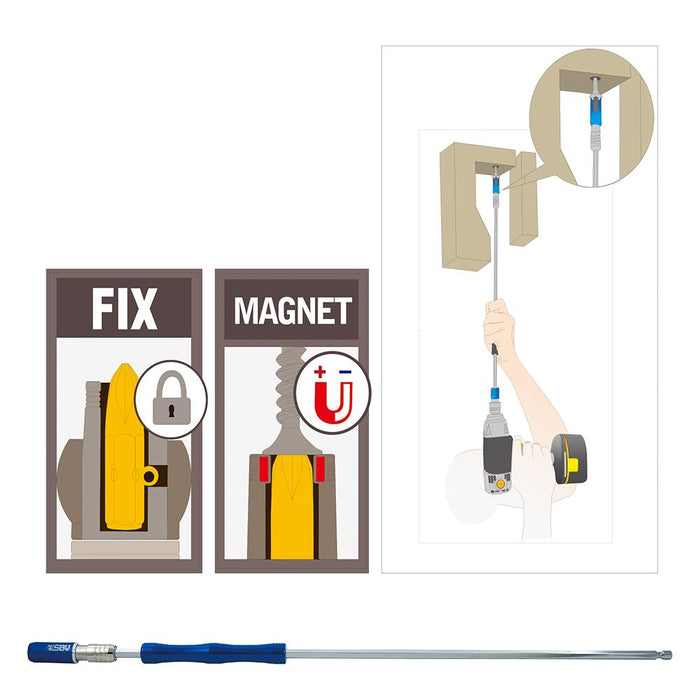 "1/4"" Dr. Quick Locking Bit Extension with Magnetic Holder - SIMZ Werkz"