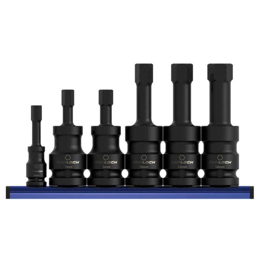 6pcs Hex Impact Torsion Bit Socket Set - SIMZ Werkz