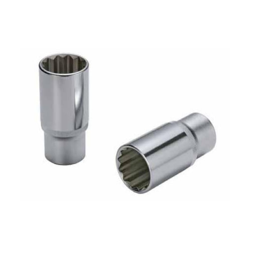 "1/2"" Dr. Deep Socket (12PT) W/Mirror Finish - SIMZ Werkz"