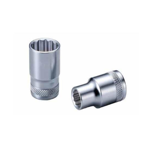 "1/2"" Dr. Socket (12PT) W/Mirror Finish - SIMZ Werkz"