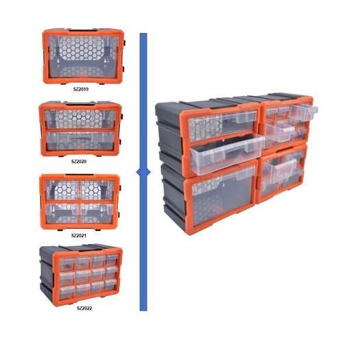 4-pc Modular Storage Solution With Drawers Set - SIMZ Werkz