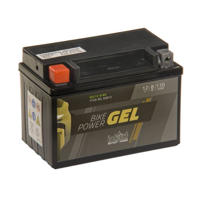 GEL12-9-BS IntAct Bike-Power Gel Battery (YTX9-BS, 50812) - SIMZ Werkz