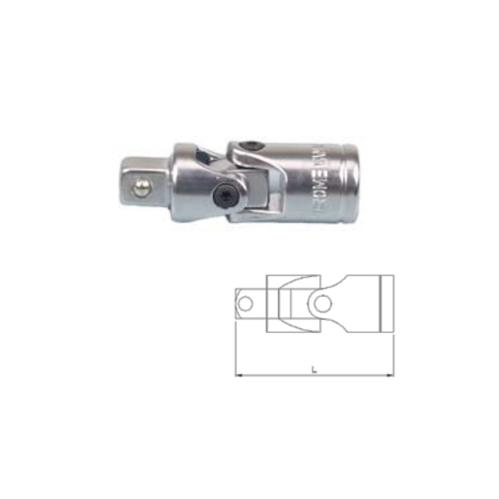 "3/8"" Dr. Universal Joint w/ Frosty Finish - SIMZ Werkz"