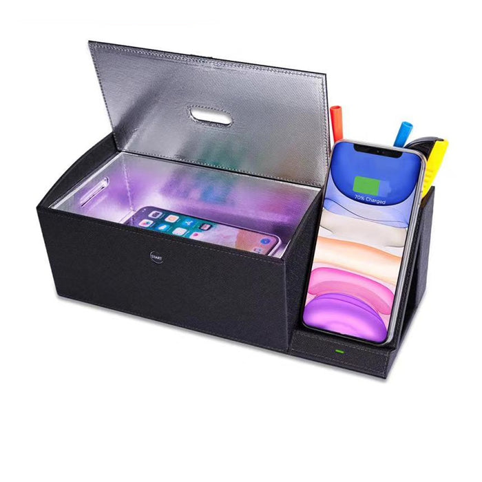 UV Sterilizer PU Box With Wireless Charger