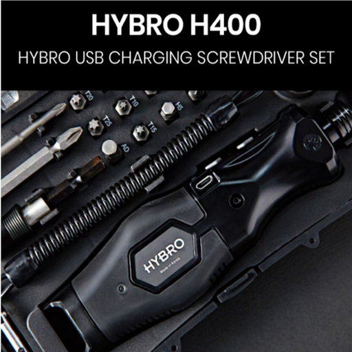 HYBRO H400 USB Rechargeable Cordless Screwdriver Set