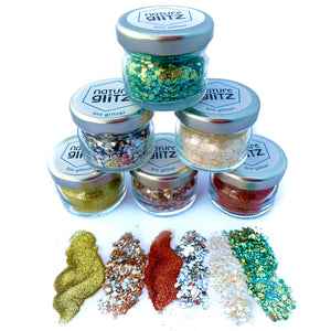 """Merry Christmas"" Bio Glitter Set"