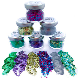 """Festival Lovers"" Bio Glitter Set"
