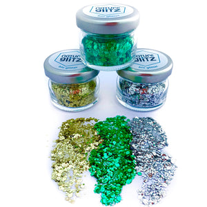 """Woodstock Hippie"" Bio Glitter Set"
