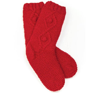 Briana Fair Trade Wool Knit Socks - Red