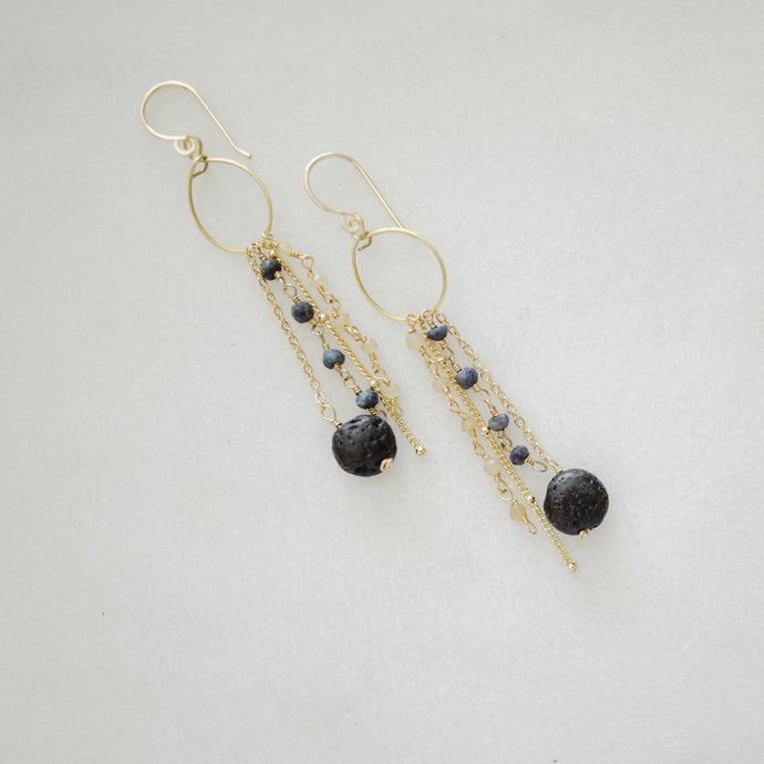 Japa Gemstone Diffuser Earrings