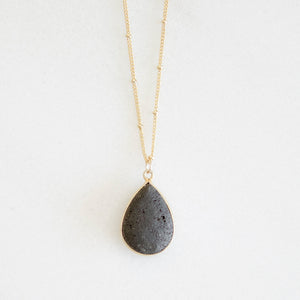 Full Moon Teardrop Necklace