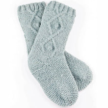 Briana Fair Trade Wool Knit Socks - Mist