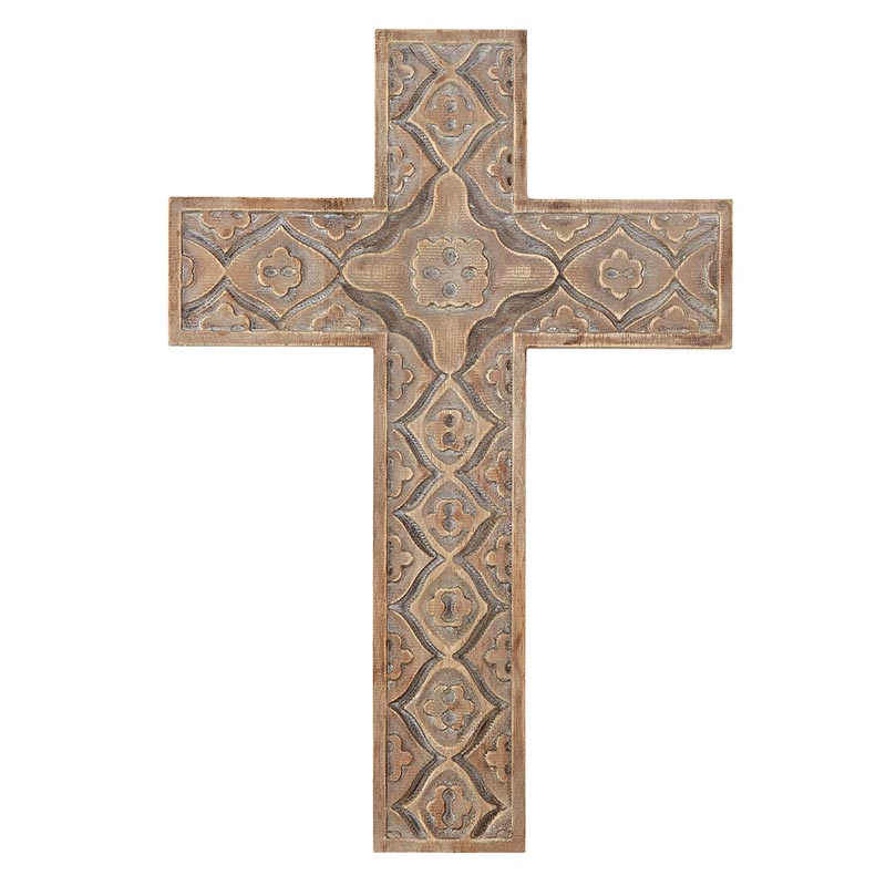 Wall Cross - Wood Carved - 18