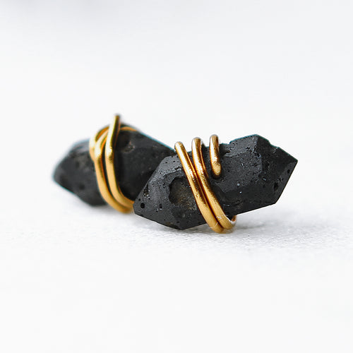 Lava Stone Aromatherapy Crystal Point Post Earrings