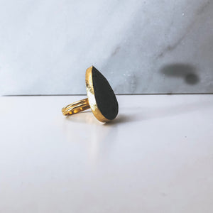 OIL DROP LAVA STONE AROMATHERAPY RING