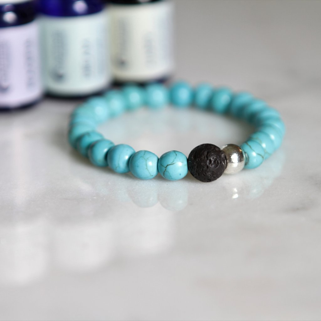 Turquoise Stone Diffuser Bracelet