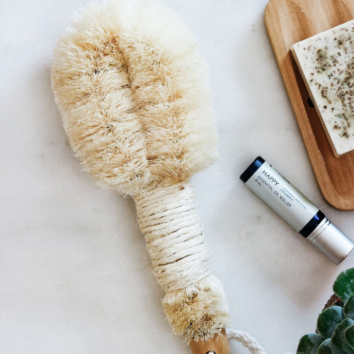 Skin Smoothing Plant Bristle Dry Brush